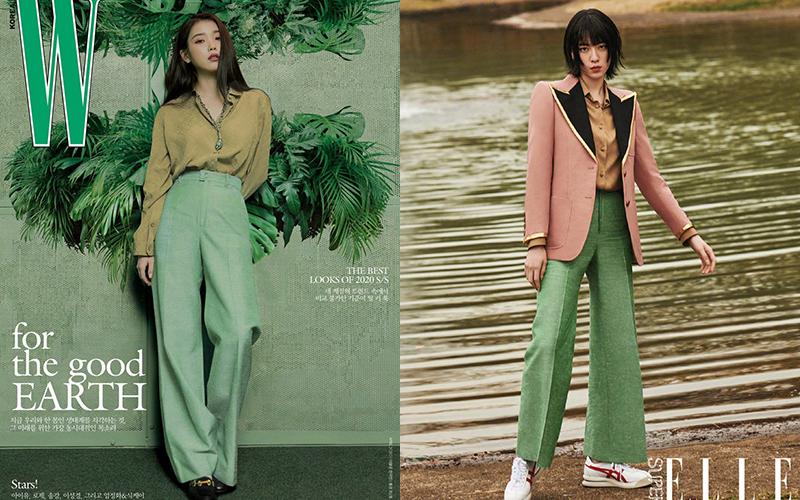 Sau khi được Gucci công bố là đại sứ thương hiệu của hãng ở thị trường Hàn Quốc, IU liên tục lăng xê trang phục của nhà mốt Italy. Tuy nhiên, khi đụng độ với các đại sứ khác của hãng khắp châu Á, nữ ca sĩ - diễn viên Hàn Quốc thường bị lép vế về thần thái cao cấp.