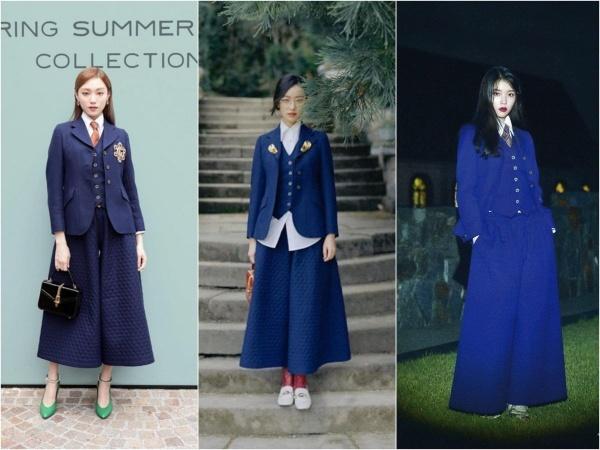 Chiều cao bất lợi khiến nàng đại sứ mới khó thể hiện được trọn vẹn tinh thần unisex của Gucci, đặc biệt là với những thiết kế siêu kén như quần váy rộng dài. Cùng set đồ, Lee Sung Kyung hay Nghê Ni trông thanh thoát hơn hẳn.