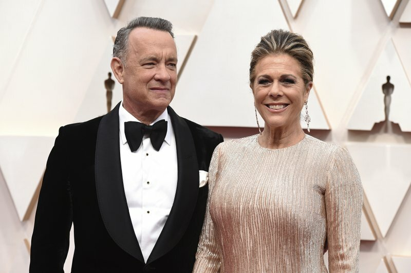 Tom Hanks và Rita WIlson. Ảnh: AP.