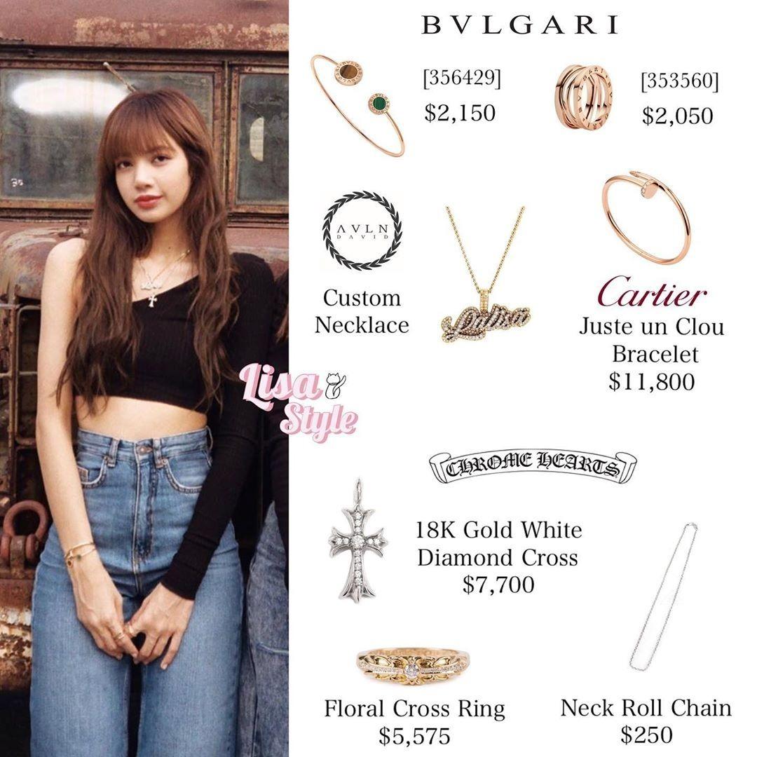 Để giúp vẻ ngoài cá tính hơn, nữ idol không tiếc tiền mua nhiều nhẫn, vòng của Chrome Hearts và Bvlgari dù chúng đều có mức giá trên trời.