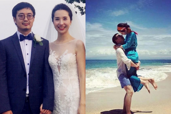 Hình ảnh hạnh phúc ngày xưa của hai vợ chồng Tưởng Phàm.