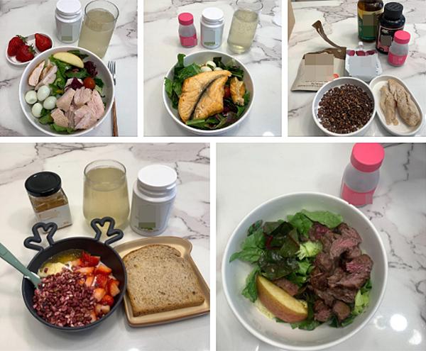 Chế độ ăn uống của Soo Bin chỉ gồm rau, thịt nạc, cá và gạo lứt.