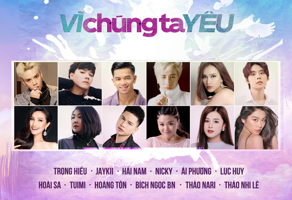 12 nghệ sĩ tham gia dự án.