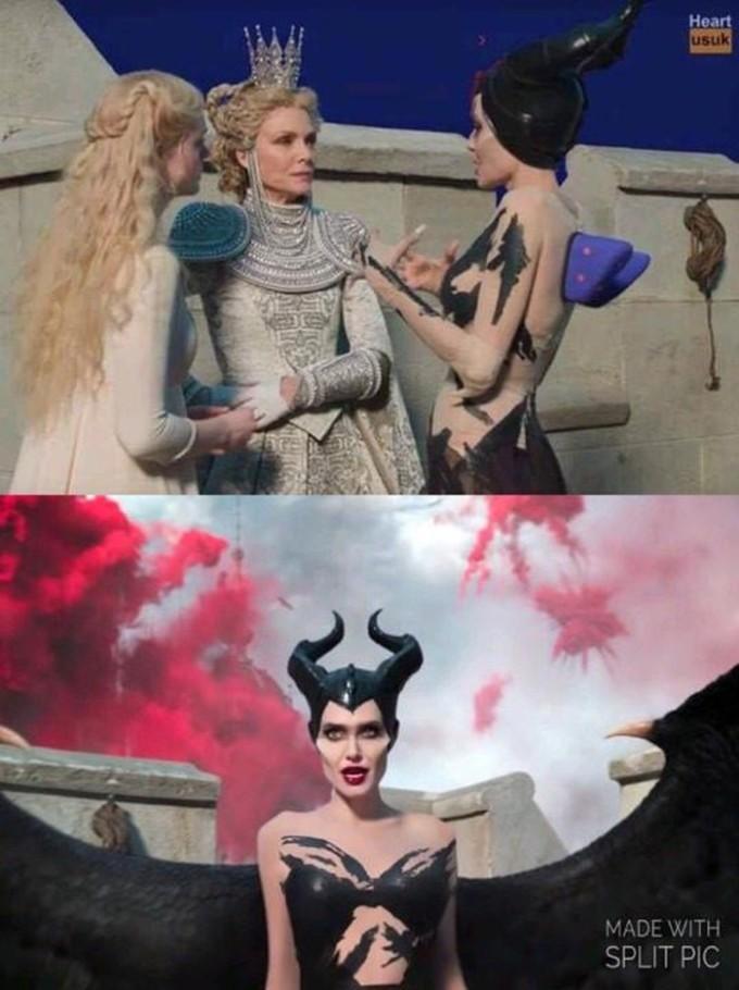 <p>Maleficent đặt hàng đôi cánh qua mạng và thực tế.</p>