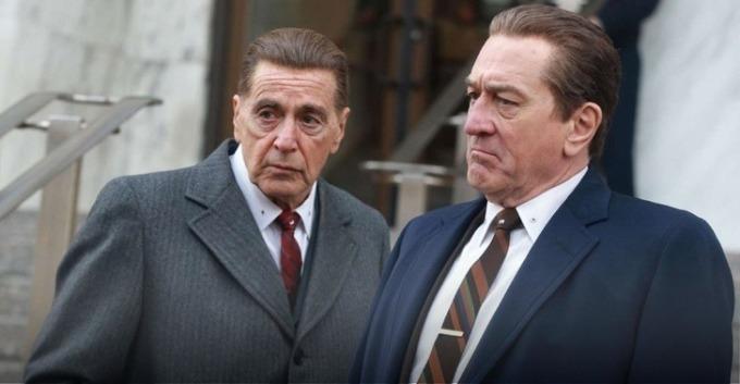 """<p><strong>The Irishman</strong></p>  <p>""""Huyền thoại"""" của làng điện ảnh Martin Scorsese đã phải chật vật kiếm nhà sản xuất cho <em>The Irishman</em> suốt 10 năm. Hầu hết các hãng yêu cầu giảm kinh phí hoặc thời lượng. Cuối cùng, đạo diễn Scorsese đã thỏa thuận thành công với Netflix - nơi chấp nhận mọi đòi hỏi của ông. Bộ phim với hiệu ứng kỹ xảo công phu đã tốn 159 triệu USD để sản xuất và dài hơn 3 tiếng.</p>"""