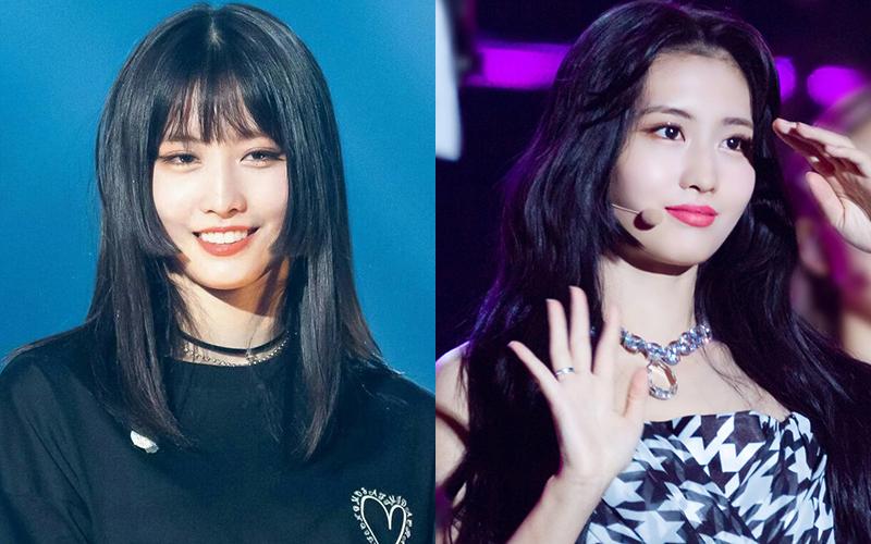 Momo khi cắt tóc Hime để mái trông Nhật Bản bao nhiêu thì khi để tóc mái dài, cô nàng lại chuẩn idol Hàn Quốc bấy nhiêu. Gương mặt tươi sáng giúp nữ idol người Nhật để tóc gì cũng đẹp.