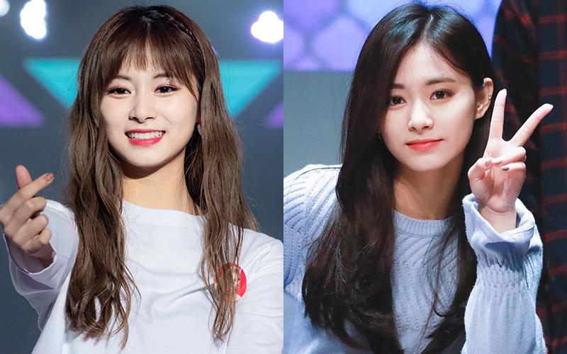 Tzuyu khi cắt tóc mái lưa thưa trông trẻ trung bao nhiêu thì lúc vén tóc mái sau vành tai, cô nàng trông dịu dàng bấy nhiêu.