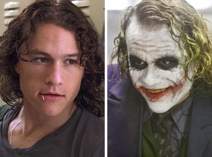 """<p class=""""Normal""""><strong>Heath Ledger</strong></p>  <p class=""""Normal"""">Bỏ học năm 16 tuổi, Ledger cùng người bạn thân lái xe đến Sydney tìm cơ hội làm diễn viên. Cột mốc đầu tiên là khi anh nhận được vai phụ trong<em>Clowning Around. </em>Ledger được biết đến nhiều hơn khi đóng<em> 10 Things I Hate About You </em>và giành Oscar Namphụ xuất sắc với vai Joker trong<em> The Dark Knight. </em>Ledger là bằng chứng không cần đào tạo cũng có thể trở thành diễn viên tài năng.</p>"""