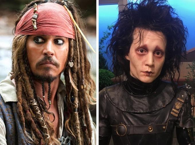 <p><strong>Johnny Depp</strong></p>  <p>Ban đầu, Depp dự định trở thành nhạc sĩ. Trong thời gian đó, anh kiếm được công việc là bán hàng qua điện thoại cho một công ty bút mực. Khi đang làm công việc này, anh được người bạn là diễn viên Nicholas Cage giới thiệu cho công ty quản lý. Nhờ vậy, anh đã được đóng <em>A Nightmare on Elm Street </em>mà không cần học lớp diễn xuất nào.</p>