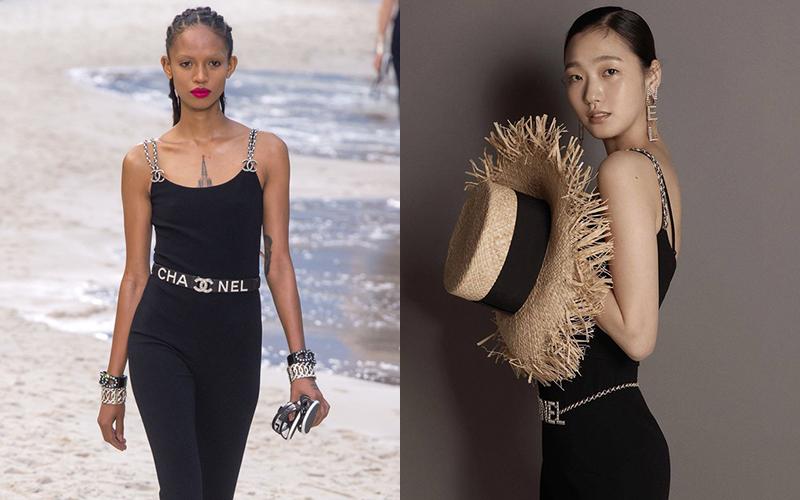 So với người mẫu của hãng, Kim Go Eun không lép vế. Vẻ mong manh, thanh tao của nữ diễn viên là điều giúp cô chinh phục khán giả.