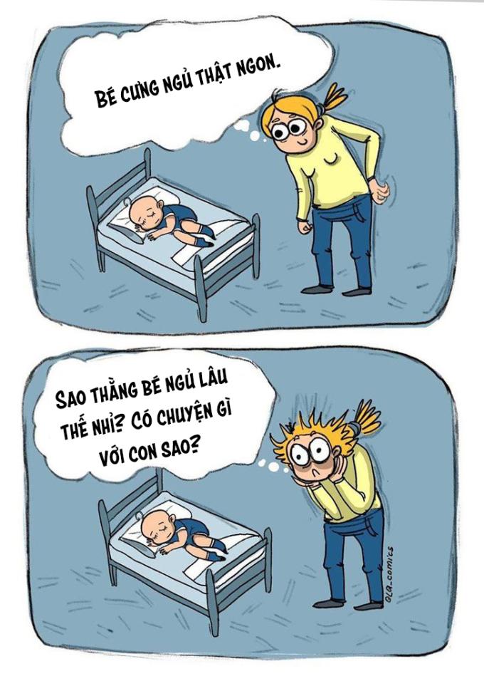 <p>Ngủ ít khiến mẹ lo, ngủ nhiều mẹ cũng lo... Con làm gì mẹ cũng lo.</p>