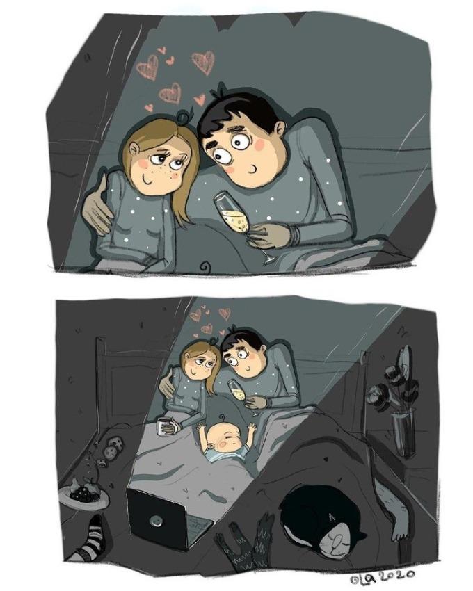 <p>Bố mẹ luôn phải tranh thủ để có được những khoảnh khắc bình yên như thế này.</p>