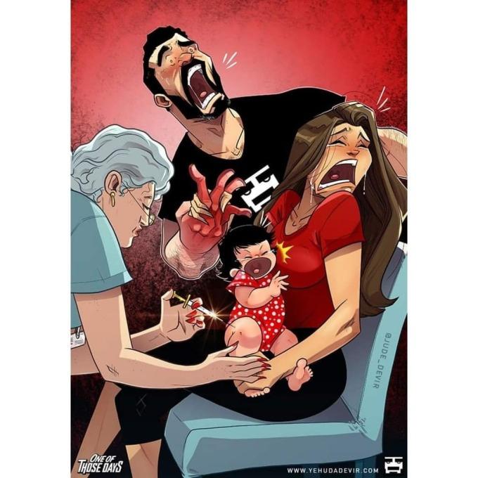 <p>Nhưng khi cục cưng đau ốm, bố mẹ đau lòng nhiều hơn.</p>
