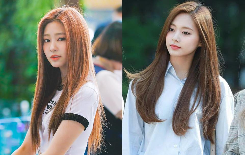 Trong IZONE, thành viên thường được gọi là hậu duệ của Tzuyu là Min Joo (trái).