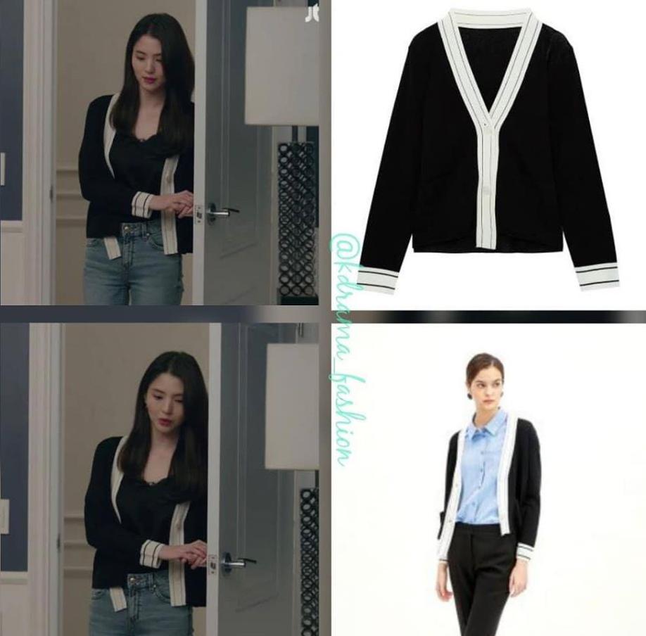 Diện áo len ôm dáng cơ bản đi cùng quần jeans là phong cách yêu thích nhất của Yeo Da Kyung. Có thần thái của một tiểu thư nhà giàu, tuy nhiên trang phục quá nhạt vẫn khiến cô bị bà cả Sun Woo lấn át.