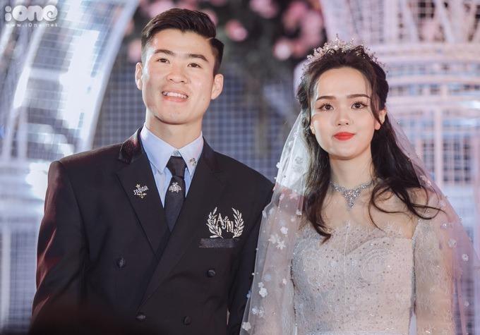 Quỳnh Anh và Duy Mạnh kết hôn hồi tháng 2/2020 sau 5 năm yêu nhau.