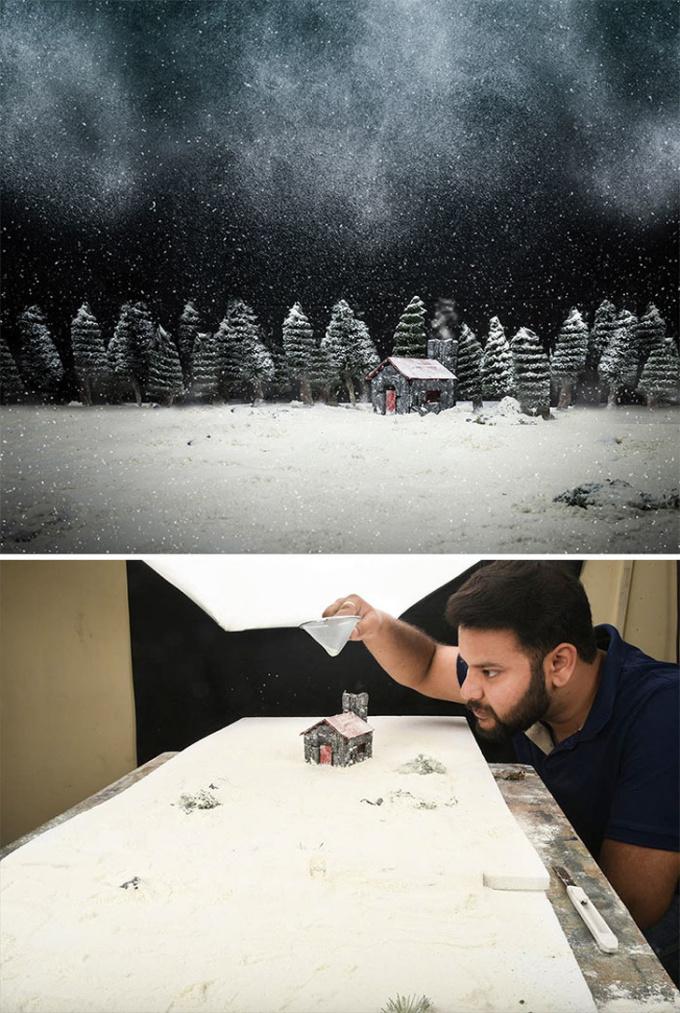 <p>Sự thật đằng saungôi nhà phủ đầy tuyết đáng mơ ước. Nhưng rất tiếc, chúng không hề có ngoài đời thật.</p>