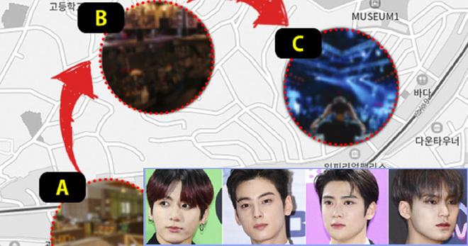 Dispatch công bố 4 idol đến khu Itaewon.