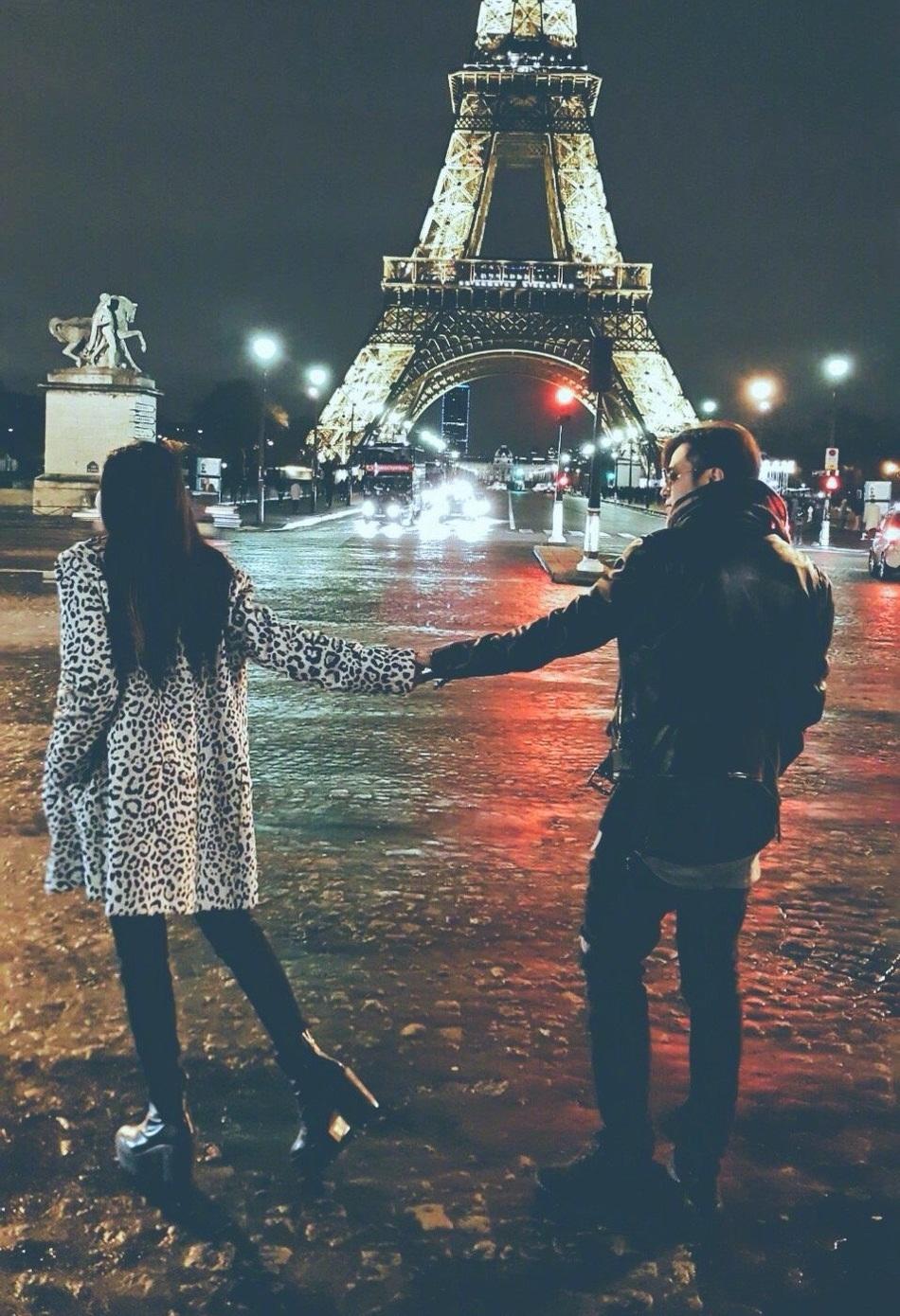 Khoảnh khắc lãng mạn ở Paris của hai người từng được Châu Dương Thanh hỏi ý kiến bạn trai để công khai trên Weibo nhưng anh không đồng ý.