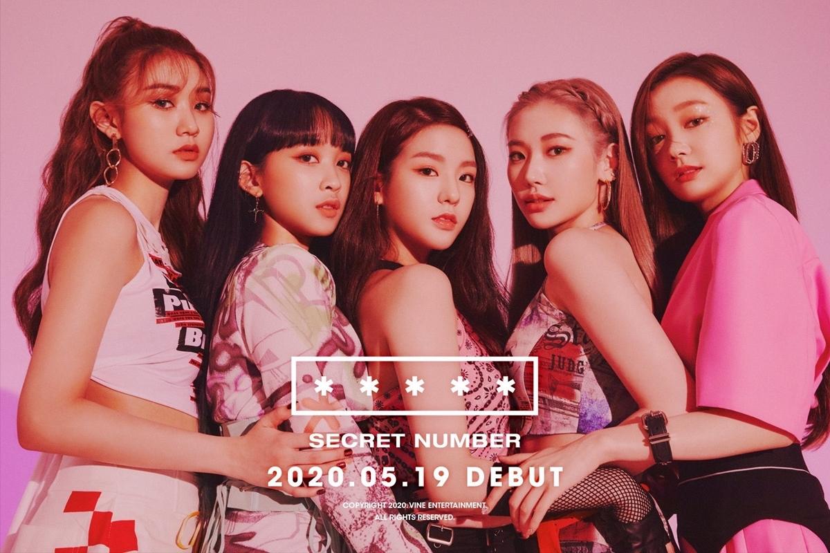 5 thành viên Secret Number lần lượt từ trái qua: Denise Kim (Mỹ gốc Hàn), Dita (Indonesia), Soo Dam (Hàn Quốc), Jinny Park (Mỹ gốc Hàn) và Léa (Nhật Bản).