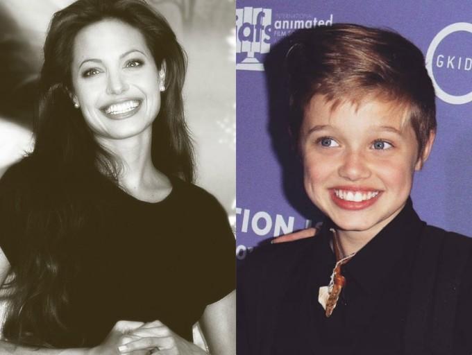 """<p class=""""Normal"""">Một trong những yêu cầu phẫu thuật thẩm mỹ phổ biến nhất hiện nay là làm đôi môi đầy đặnnhư Angelina Jolie. Shiloh không cần đến việc này vì cô bé may mắn được thừa hưởng đôi môi quyến rũ bậc nhất Hollywoodtừ mẹ.</p>"""