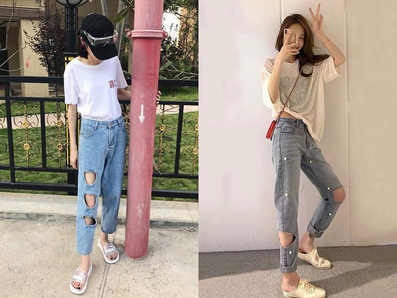 Jeans thủng lỗ tuy độc đáo nhưng gây tranh cãi về độ thẩm mỹ. Nhiều người nhận xét, so với các kiểu jeans rách, quần thủng lỗ còn khó mặc hơn.