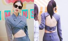 Idol Hàn diện áo 'trước kín đáo, sau hở mênh mông'