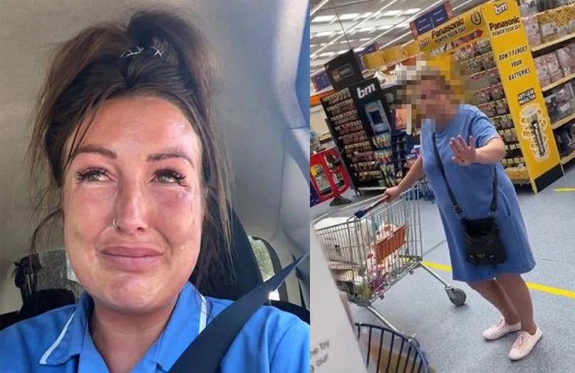 Kimberley bật khóc khi nhắc về vụ việc tại siêu thị.