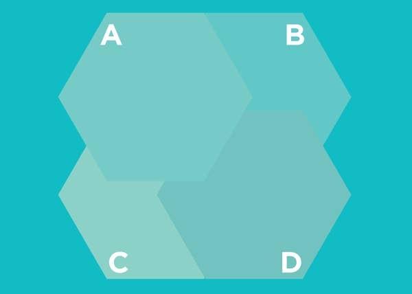 Hình lục giác nào nằm trên cùng? - 1