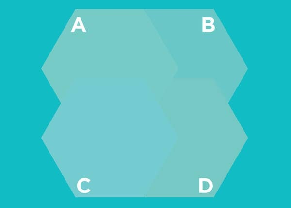 Hình lục giác nào nằm trên cùng? - 3