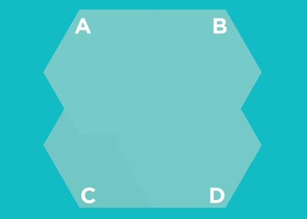 Hình lục giác nào nằm trên cùng? - 5