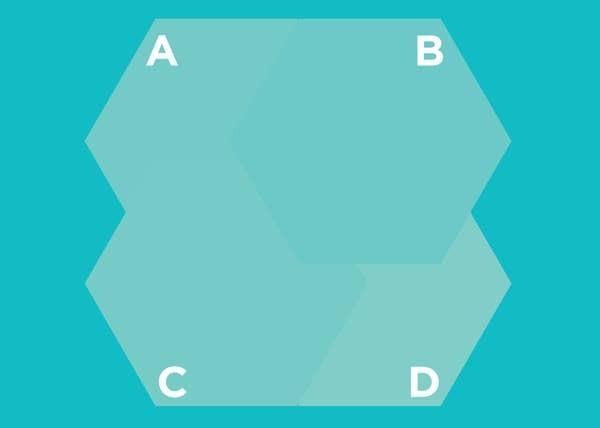 Hình lục giác nào nằm trên cùng? - 7