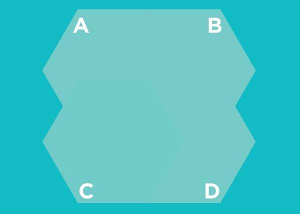 Hình lục giác nào nằm trên cùng? - 9