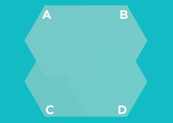 Hình lục giác nào nằm trên cùng? - 11
