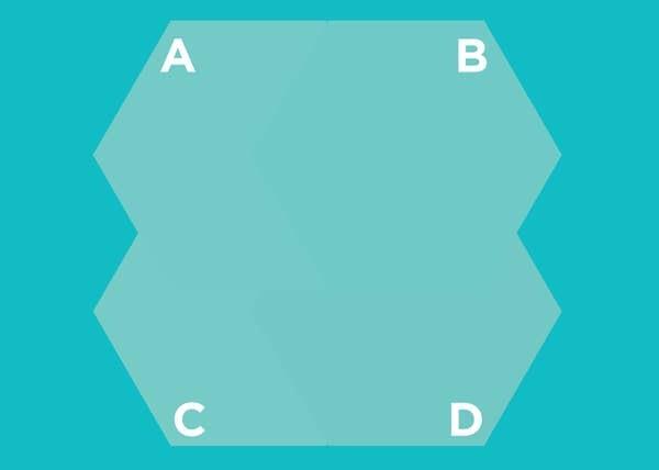 Hình lục giác nào nằm trên cùng? - 13