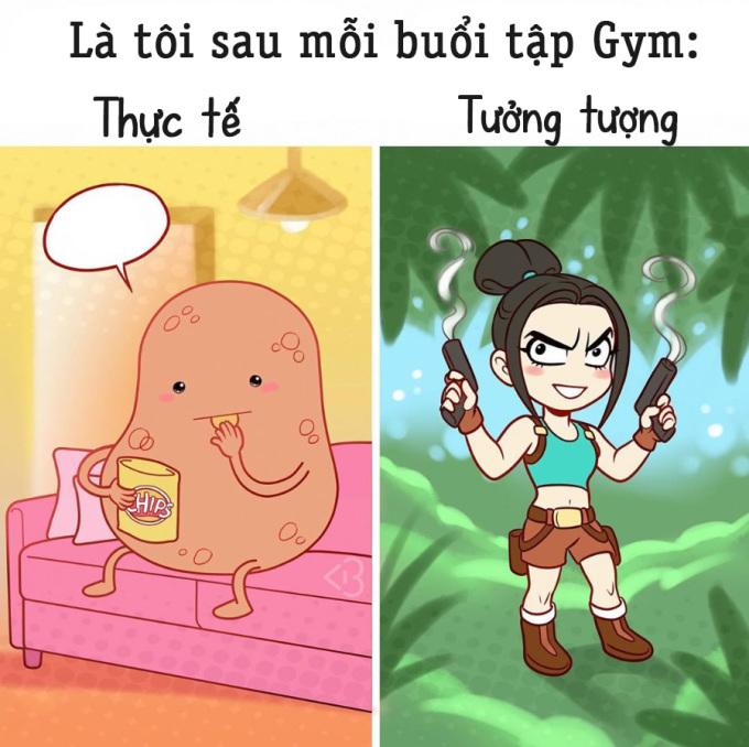<p>Sau mỗi buổi tập gym, bạn luôn nghĩ thân hình đã gầy hơn,quyến rũ hơn. Nhưng thực tế thì bạn chỉ ăn nhiều hơn.</p>