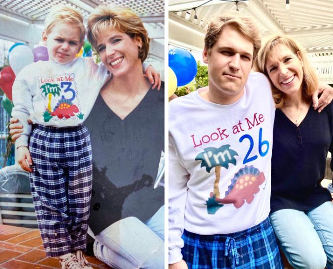 """<p>""""Tôi và mẹ cùng chụp một bức ảnh trong """"Ngày của mẹ"""", nhưng hai bức ảnh lại cách nhau đến 23 năm"""".</p>"""