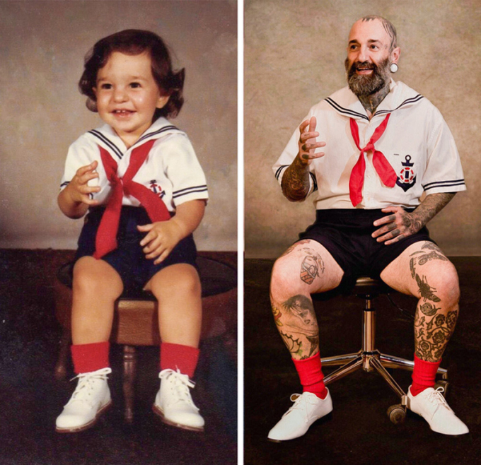 """<p class=""""Normal"""">""""Mẹ tôi tự naybộ quần áo đồng phụckhi tôi 2 tuổi. Và giờ là khi tôi 39 tuổi"""".</p>"""