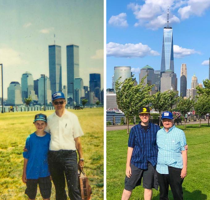 """<p>""""Hai bố con tôi chụp ảnh cùng nhau sau 28 năm"""".</p>"""