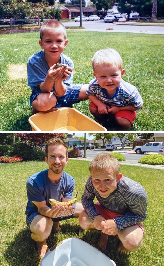 """<p>""""Cập nhật hình ảnh của hai anh em tôi sau 28 năm..."""".</p>"""