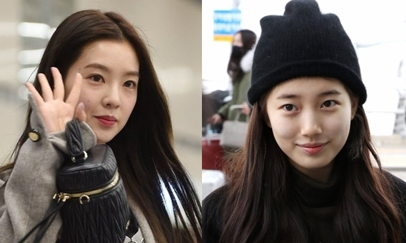 Suzy và Irene cạnh tranh danh hiệu ''nữ thần mặt mộc'' Kbiz