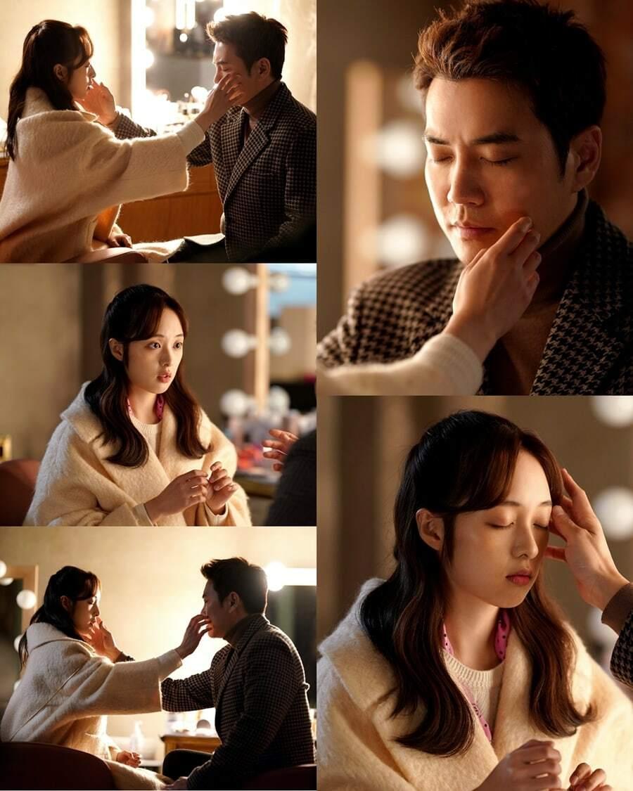 Ngoại hình của Joo Sang Wook - Kim Bo Ra  hiện rõ sự chênh lệch tuổi tác.