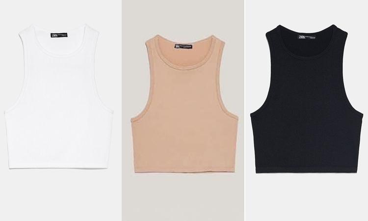 Mẫu tank top cổ yếm giá 300k có ba màu sắc cơ bản là trắng, đen và be, rất dễ dàng trong việc mix-match quần áo. Thiết kế cổ yếm sẽ giúp vòng một của bạn trông lớn hơn, tuy nhiên không hợp với những nàng có phần vai ngang.