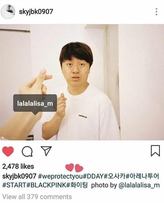 Quản lý Jung từng đăng ảnh Lisa chụp...