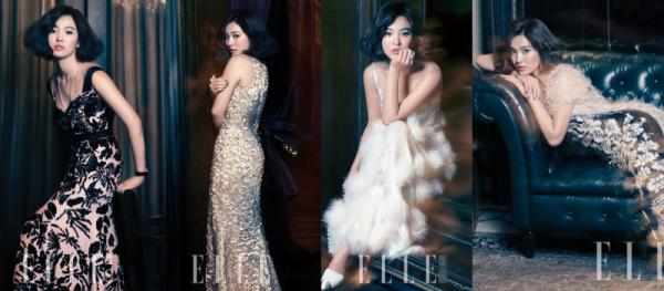 Jessica với 5 lần diện đồ Haute Couture đã gây trầm trồ, tuy nhiên vẫn chưa là gì khi so với Song Hye Kyo. Nữ minh tinh rất được lòng các tạp chí thời trang, thương hiệu danh tiếng với 14 lần mặc đồ Haute Couture chụp hình và cả đi sự kiện. Năm 2013, lên bìa Elle số tháng 1 với toàn bộ các look nằm trong BST Haute Couture mùa thu 2012 của Chanel.