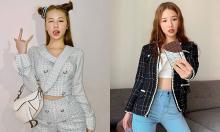 Amee 'nghiện nặng' đồ vải tweed giống Jennie