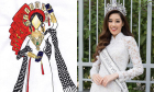 Đồ 'đi đường quyền' thi tuyển quốc phục cho Khánh Vân tại Miss Universe
