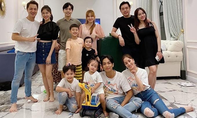 Thủy Anh - Đăng Khôi tụ họp cùng ''hội bỉm sữa'' showbiz