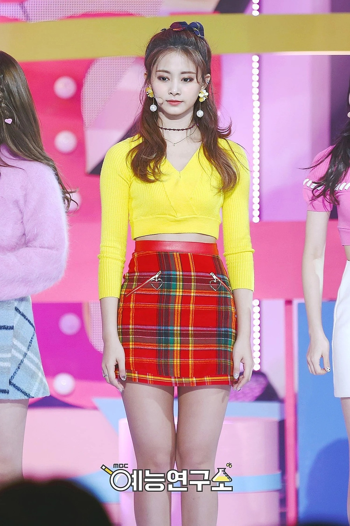 he crop top from Forever 21 cost £16.00 GBP (around $20.00 USD) while the check mini skirt from Chuu cost $32.00 USD.