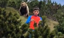 Cậu bé 12 tuổi thoát nạn khi bị gấu lớn bám theo